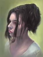 Portrait of Cvetomira Tsekova by Burov