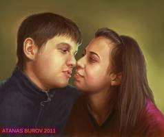 Portrait of Simeon and Teodora by Burov
