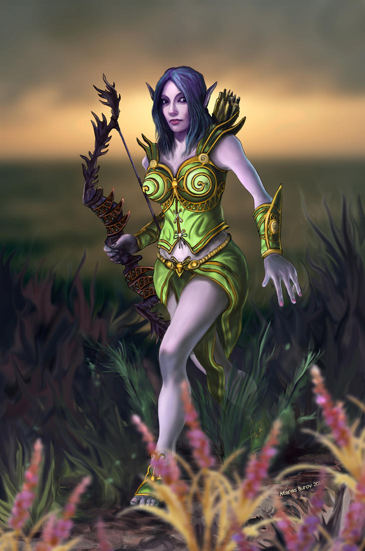 Forest Elf Hunter by Burov