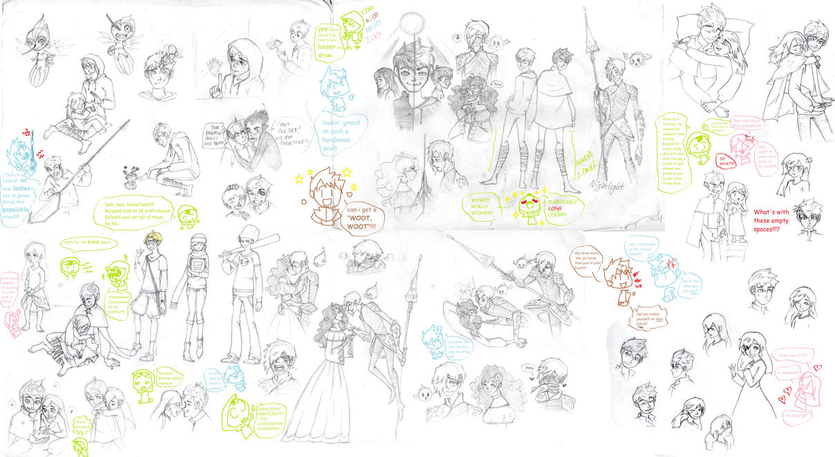 ROTG sketch dump by chocolatevampire217