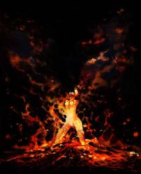 An Eruption of Inner Turmoil by paintausea