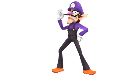 Smash 3C Waluigi Render by SylveonGives