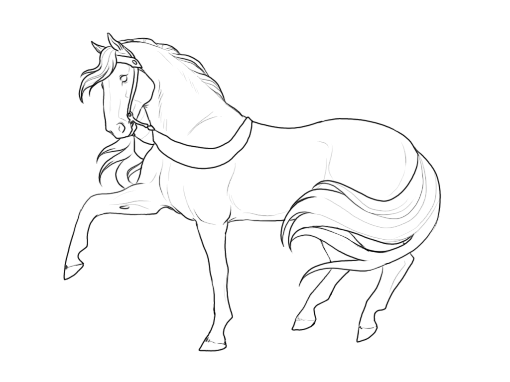 It's just an image of Crazy breyer horse coloring pages