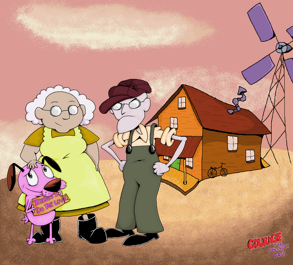 Courage the cowardly dog by MittezBrotherhood7