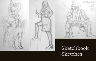 Sketchbook Sketches by Fox-The-Wandering