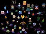 Kingdom hearts Worlds Map