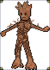 Pixel Art Marvel Groot