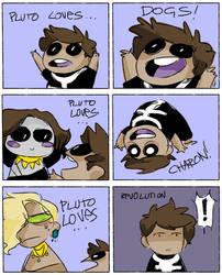 Pluto loves... by Wheatu