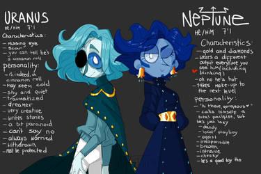 Uranus and Neptune by Wheatu