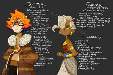 Jupiter and Saturn by Wheatu