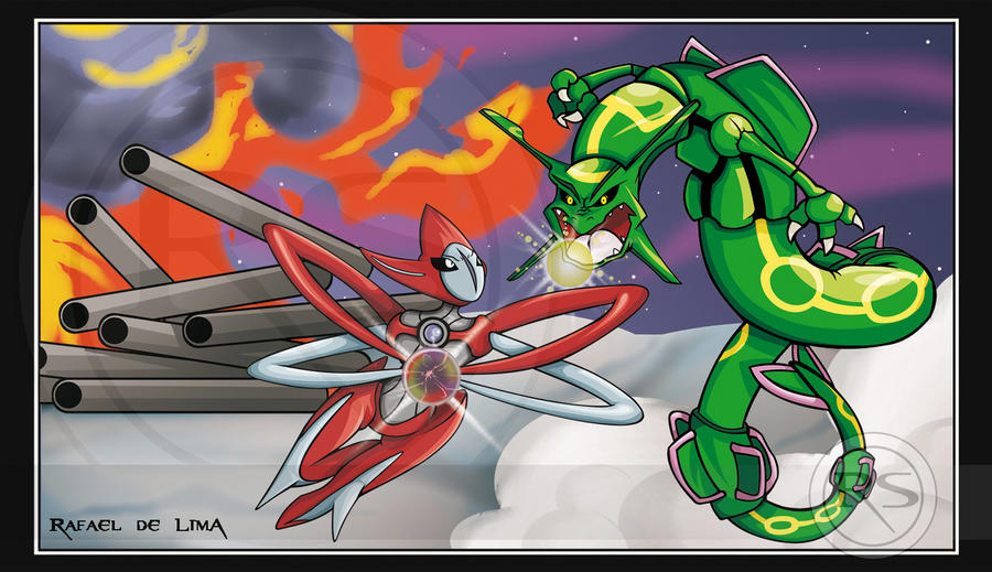 Deoxys vs Rayquaza by RafinhaShinta1 on DeviantArt