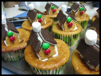 Gingerbread Eggnog Cupcakes by sake-bento