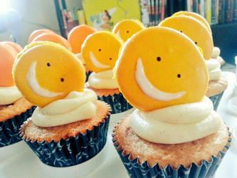 Koro Cupcakes by sake-bento
