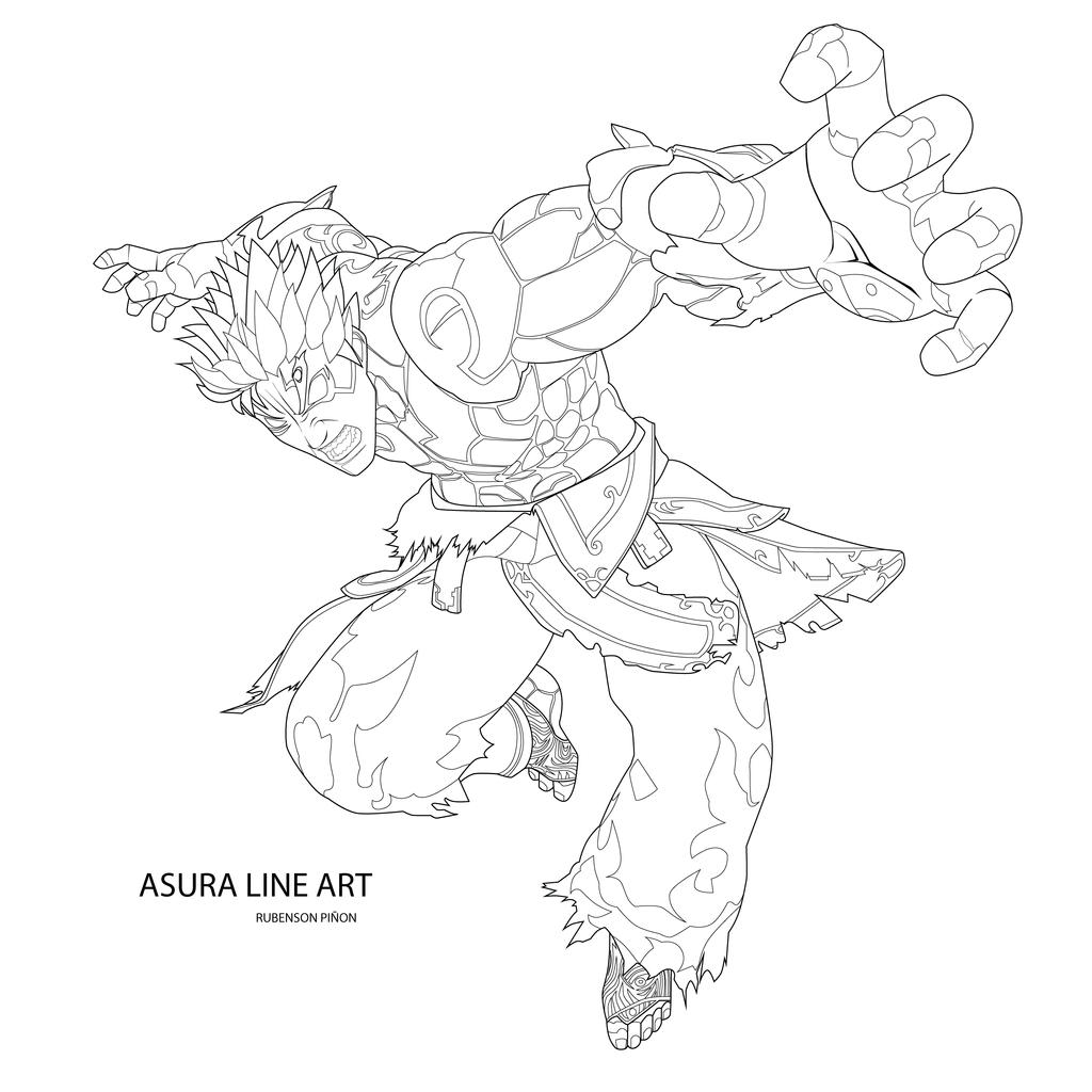 Majoras wrath coloring pages ~ Asura Wrath Color Me by Rubensonps3 on DeviantArt