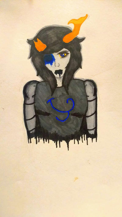 Marker Practice (Fantroll-yet-to-be-named Sketch) by AhrenSasaki