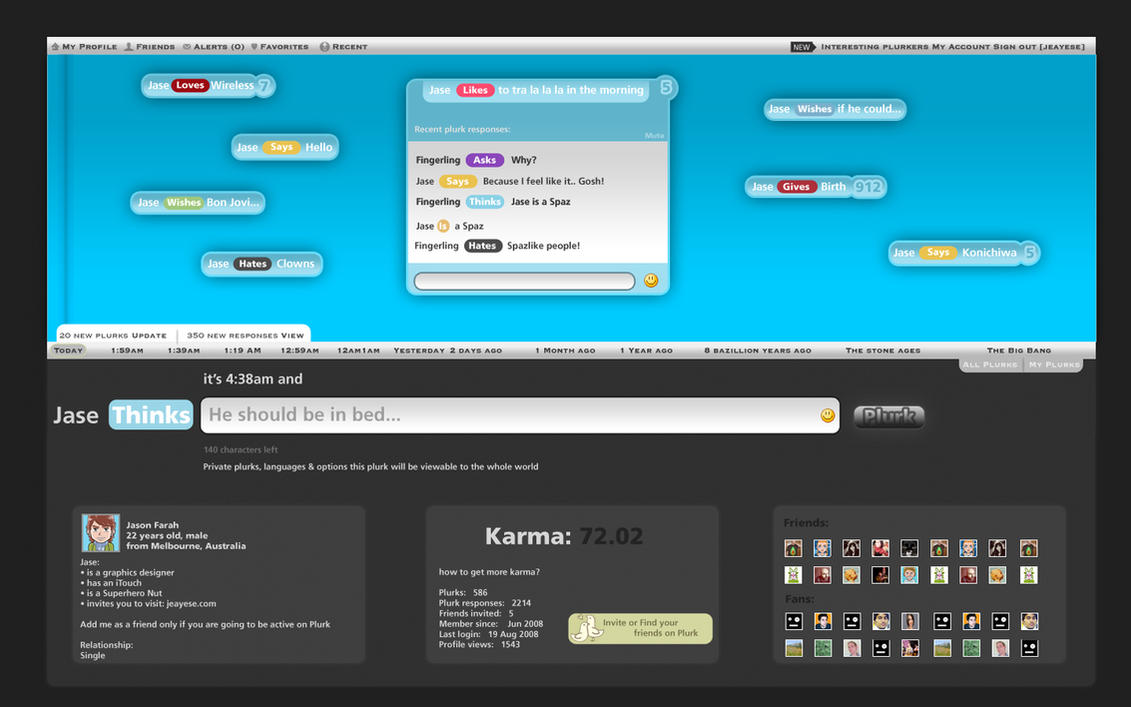 Plurk Website Redesign by jeayese
