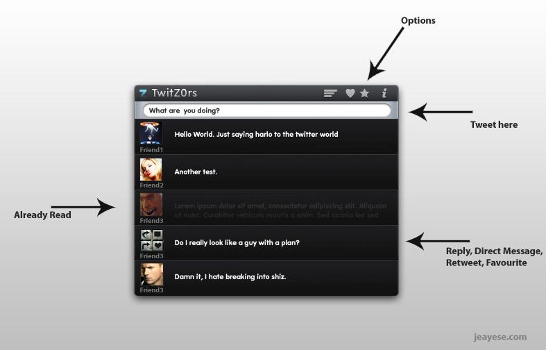 twitz0rs - A twitter app? by jeayese