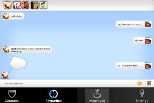 iOS app Message Window by jeayese