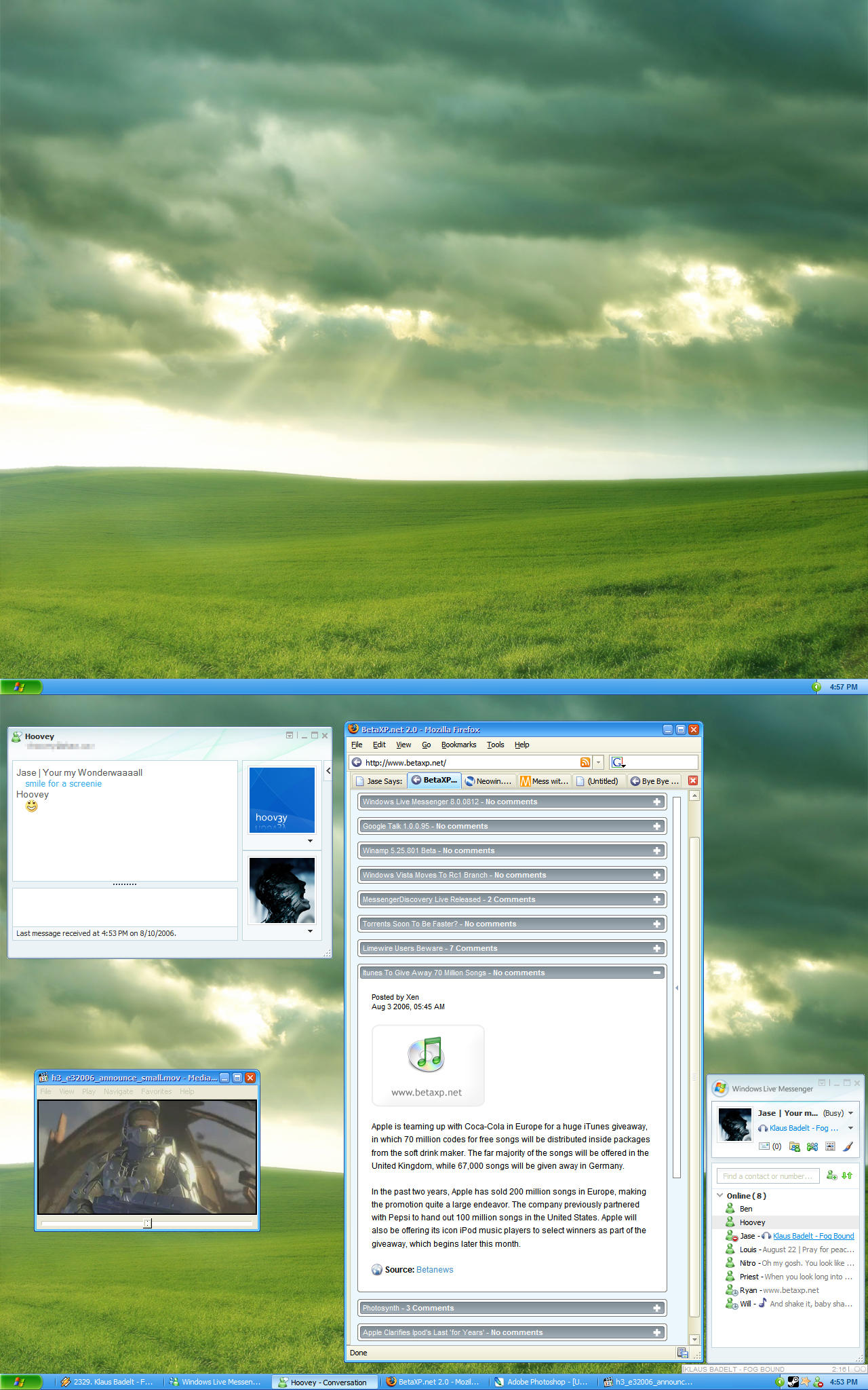 Windows XP Desktop by jeayese