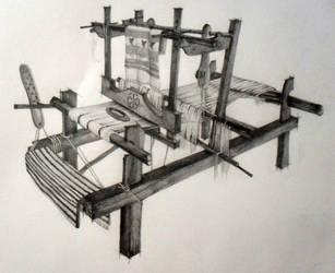 Traditional weaving machinery by DorianaMarasoiu