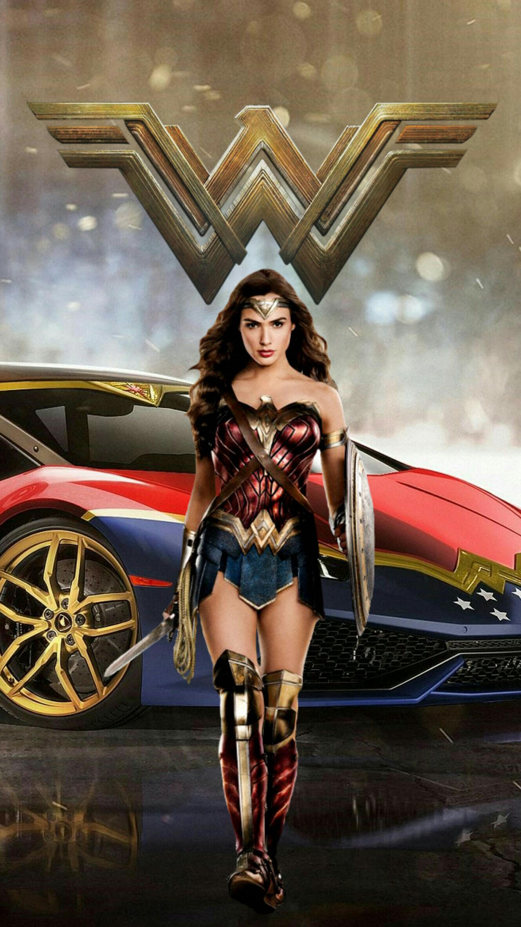 Wonder Woman Her Bugatti Mobile Wallpaper By Supermansdad79 On