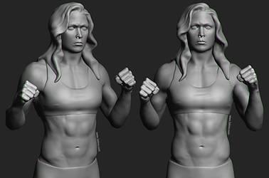 Ronda Rousey likeness practice by rinozvizdic