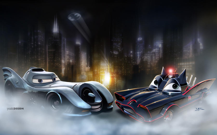 Batcar meets Batmobile by danyboz