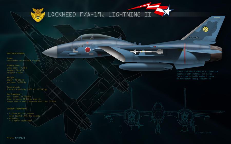 F19J Lightning - JSDAF by danyboz