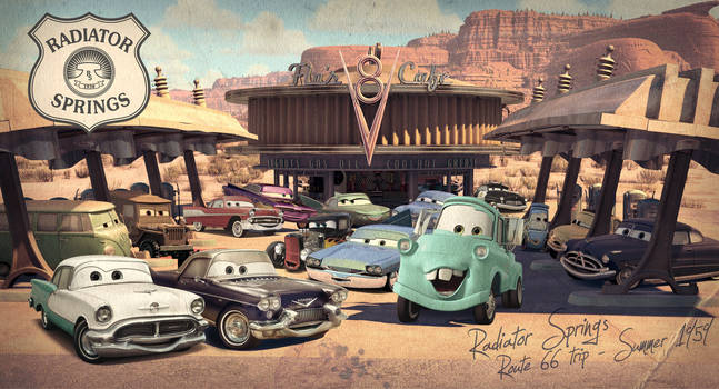 Cars   Back to the 50's by danyboz