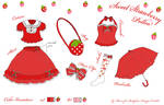 Sweet Strawberry Polka Design
