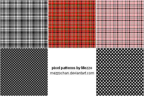 Pixel Patterns - Stock by Mezzochan