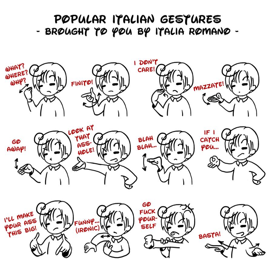 APH - popular Italian gestures by Mezzochan