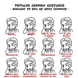 APH - popular German gestures by Mezzochan