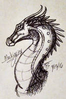 Mockingjay Pen Sketchy by SpudbollerCreations