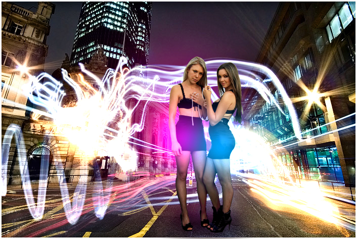 Women Of City At Night
