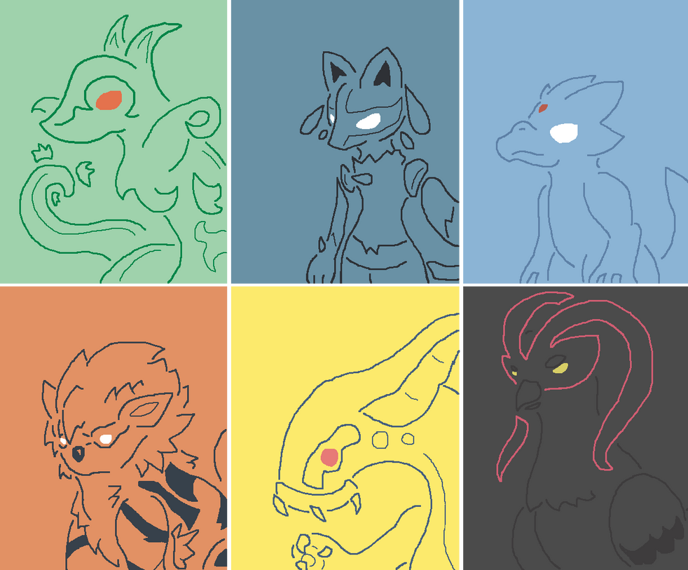 Pokemon Black 2 Team by Dianamond