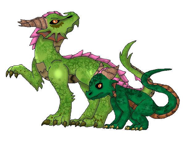 Dragon/Grass Dragon (Fakemon) by Dianamond