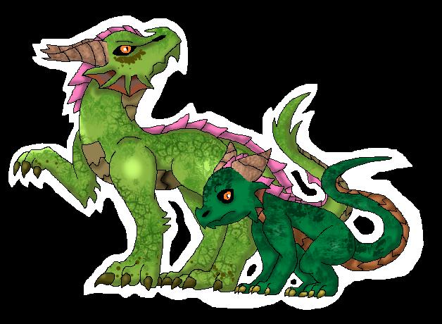 Dragon/Grass Dragon (Fakemon) by Dianamond