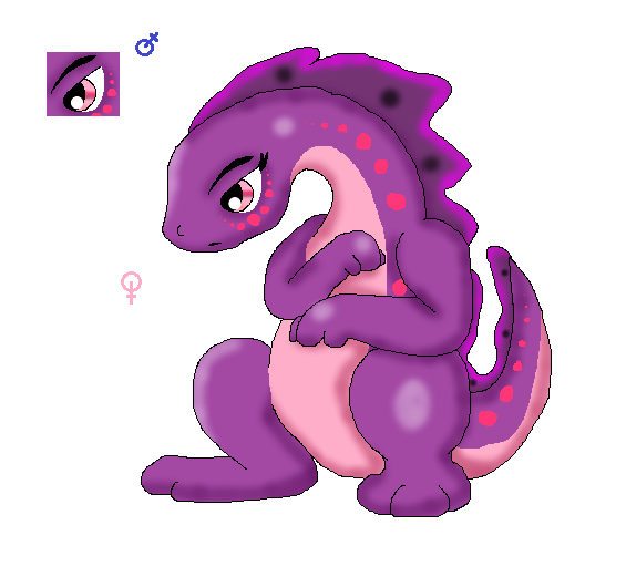 Psychic/Posion Lizard (Fakemon) by Dianamond