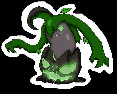 Poison/Grass Alternate Pumpkaboo Evolution by Dianamond