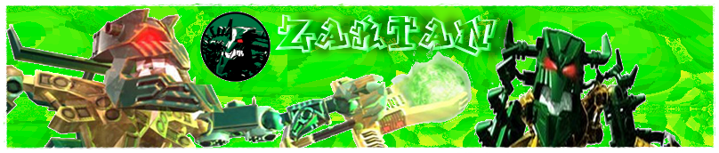 Zaktan Banner Green Piraka by VampireAngelDarkSoul