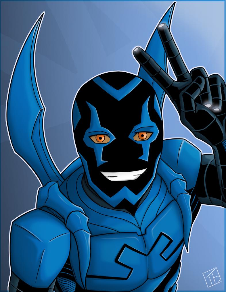 Blue Beetle Portrait by IBlackWolf