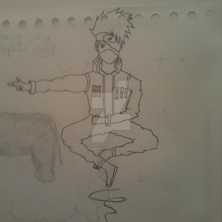 Kakashi line art by GSPARRowdeathlegend