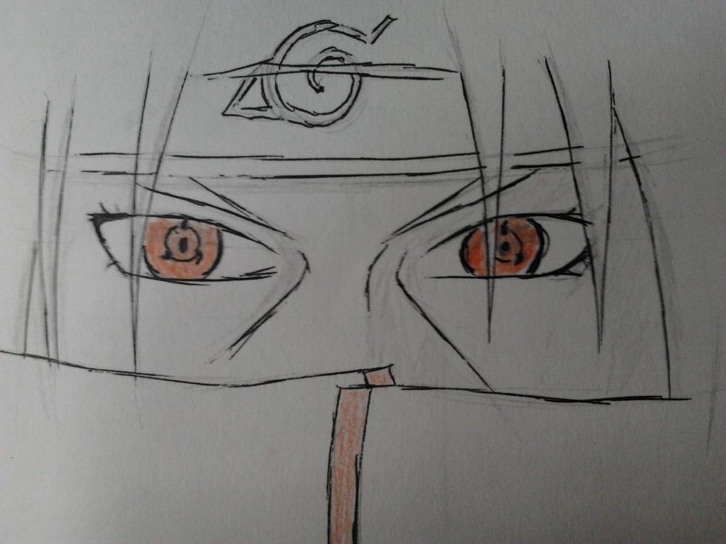 Uchiha Sasuke's Eternal Mangekyō Sharingan Drawing ... |Itachi Mangekyou Sharingan Drawing