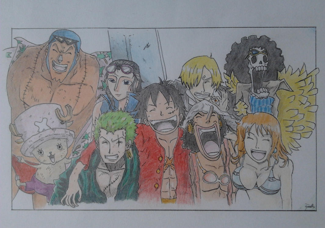 the Strawhat Pirates from OnePiece by GSPARRowdeathlegend