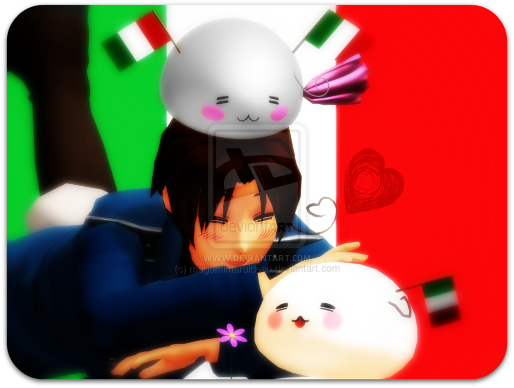 MMDxAPH Italy and Mochi Italies by megumimaruidesu