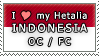 APH I love my Indonesia OC Stamp by megumimaruidesu