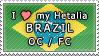 APH I love my Brazil OC Stamp by megumimaruidesu