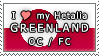 APH I love my Greenland OC Stamp by megumimaruidesu
