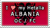 APH I love my Albania OC Stamp by megumimaruidesu
